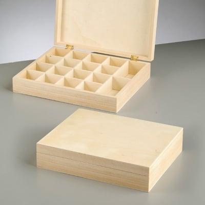 Дървена кутия, 25 x 20 x 5,5 cm, натурална