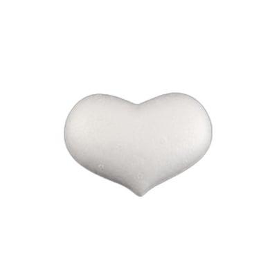 Дебеличко сърце от стиропор, бял, 70x50 mm