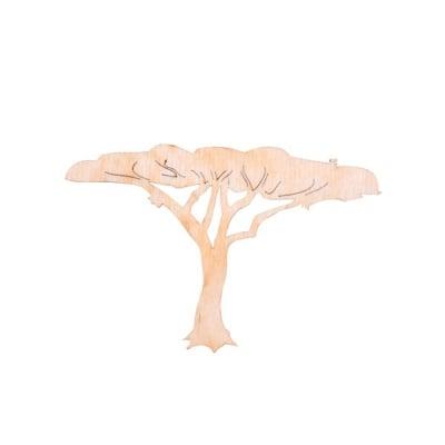 Деко фигурка африканско младо дърво, дърво, 40 mm