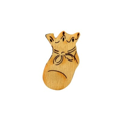 Деко фигурка бебешка обувка, дърво, 22 mm