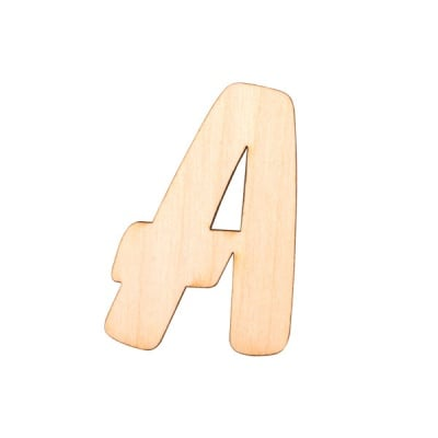 "Деко фигурка буква ""А"", дърво, 28 mm"