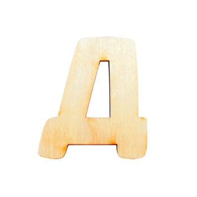 "Деко фигурка буква ""Д"", дърво, 50 mm"