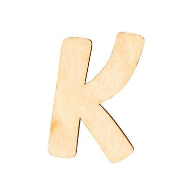 """Деко фигурка буква """"K"""", дърво, 19 mm"""