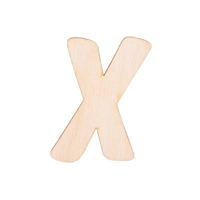 """Деко фигурка буква """"X"""", дърво, 19 mm"""