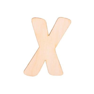 """Деко фигурка буква """"X"""", дърво, 28 mm"""