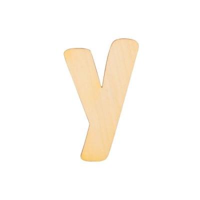"""Деко фигурка буква """"Y"""", дърво, 50 mm"""