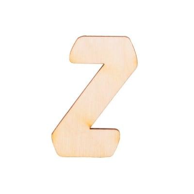 """Деко фигурка буква """"Z"""", дърво, 50 mm"""
