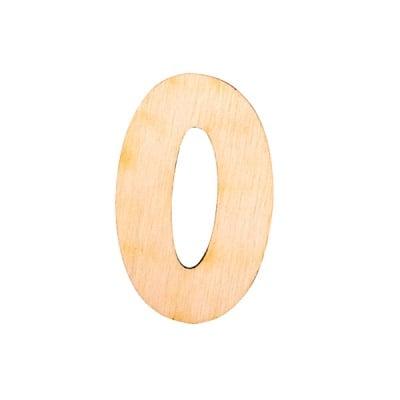 """Деко фигурка цифра """"0"""", дърво, 28 mm"""