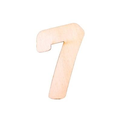 """Деко фигурка цифра """"7"""", дърво, 50 mm"""
