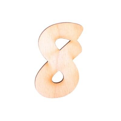 """Деко фигурка цифра """"8"""", дърво, 28 mm"""