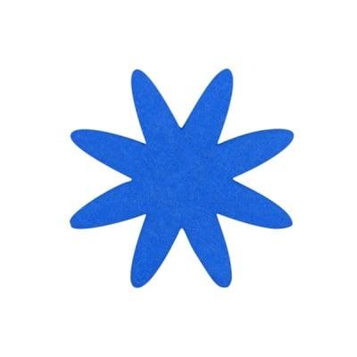 Деко фигурка цвете 8 листно, филц, 60 mm, турско синьо
