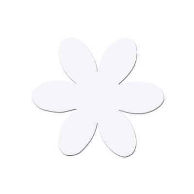 Деко фигурка цвете, филц, 50 mm, бяло