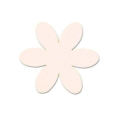 Деко фигурка цвете, филц, 50 mm, кремаво