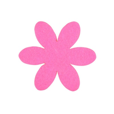Деко фигурка цвете, филц, 50 mm, прасковено