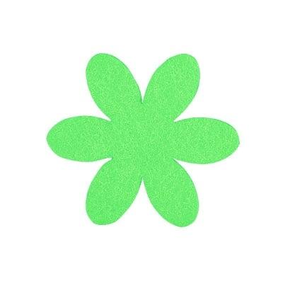 Деко фигурка цвете, филц, 50 mm, тревно зелено