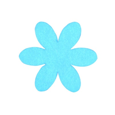 Деко фигурка цвете, филц, 55 mm