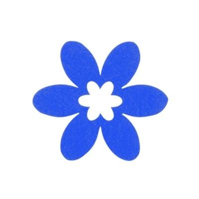 Деко фигурка цвете, филц, 65 mm, лилаво