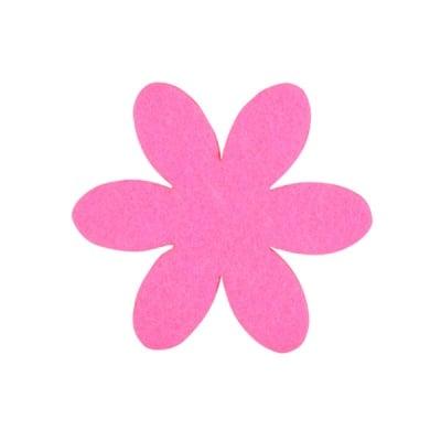Деко фигурка цвете, филц, 65 mm, прасковено