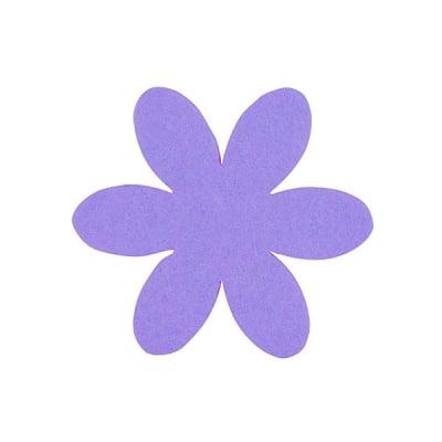 Деко фигурка цвете, филц, 65 mm, виолетово