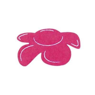 Деко фигурка цвете отстрани, филц, 40 mm, прасковено