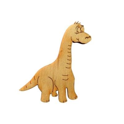 Деко фигурка динозавър Big Foot Saurus, дърво, 50 mm