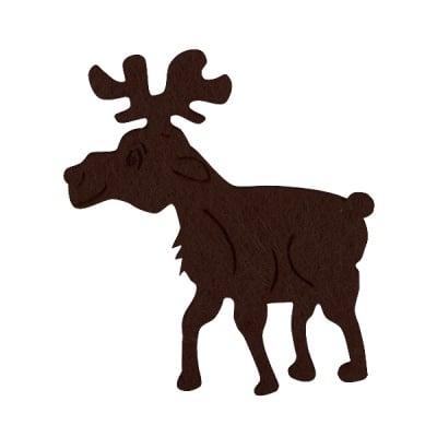 Деко фигурка елен, Filz, 40 mm, тъмно кафяв