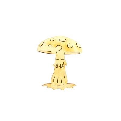 Деко фигурка гъба, дърво, 30 mm