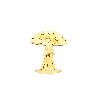 Деко фигурка гъба, дърво, 40 mm