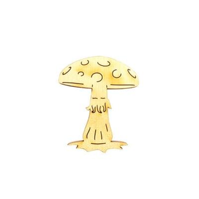 Деко фигурка гъба, дърво, 50 mm