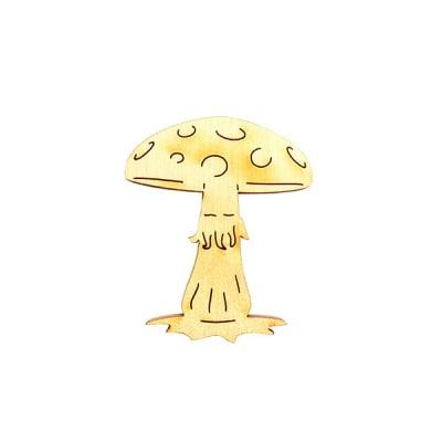 Деко фигурка гъба, дърво, 60 mm