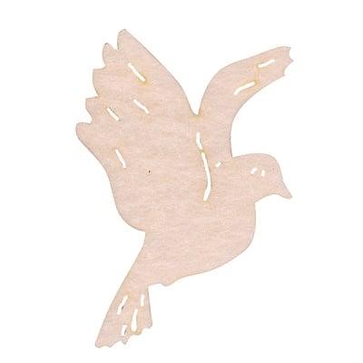 Деко фигурка гълъб. Filz. 30 mm. кремав