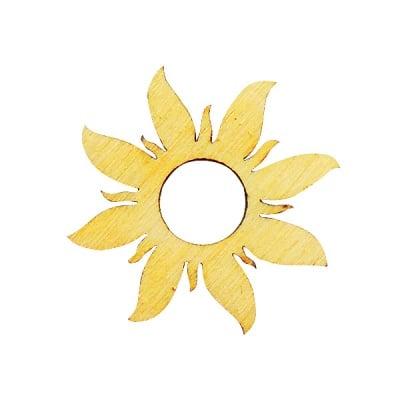 Деко фигурка греещо слънце, дърво, 30 mm