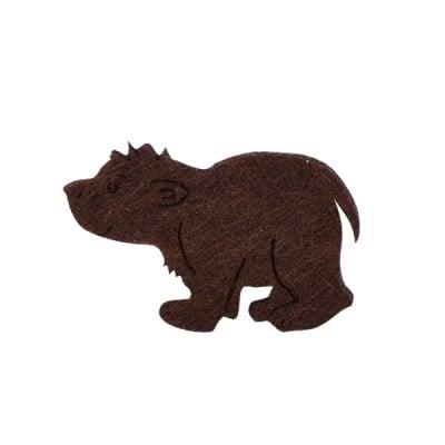 Деко фигурка кафява мечка, Filz, 30 mm