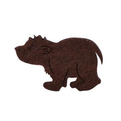Деко фигурка кафява мечка, Filz, 40 mm
