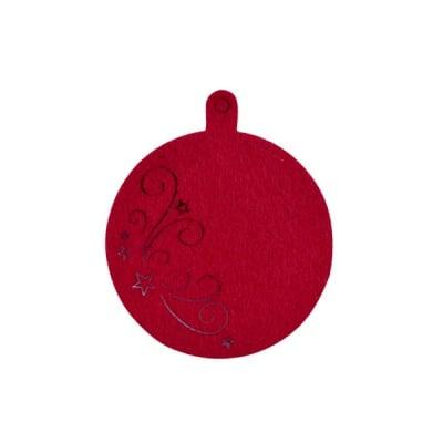 Деко фигурка коледна топка, Filz, 80 mm, кафява