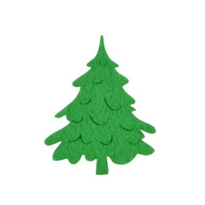 Деко фигурка коледно дръвче, Filz, 100 mm, светло зелена