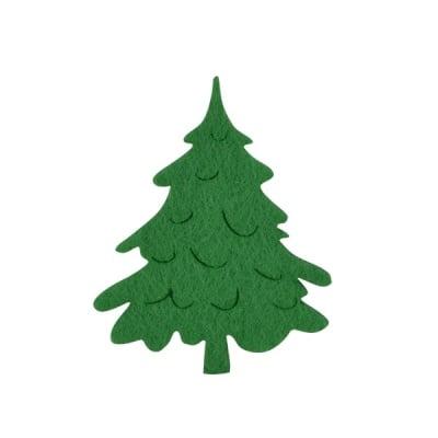 Деко фигурка коледно дръвче, Filz, 100 mm, тъмно зелена