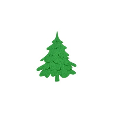 Деко фигурка коледно дръвче, Filz, 50 mm, светло зелена