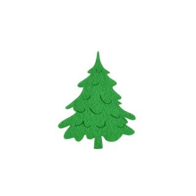 Деко фигурка коледно дръвче, Filz, 60 mm, светло зелена