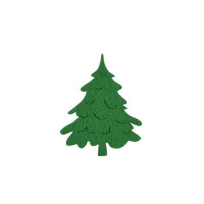 Деко фигурка коледно дръвче, Filz, 60 mm, тъмно зелена