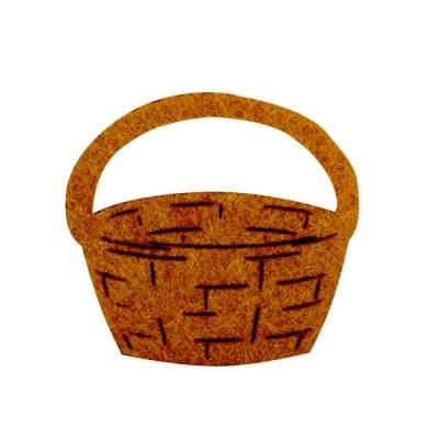 Деко фигурка кошница, Filz, 40 mm, светло кафява