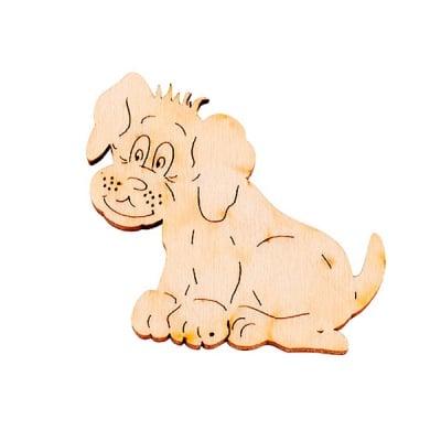Деко фигурка куче, дърво, 50 mm