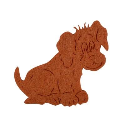 Деко фигурка куче, Filz, 50 mm, светло кафяво