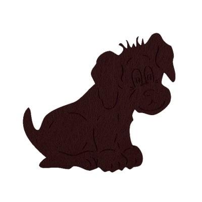 Деко фигурка куче, Filz, 50 mm, тъмно кафяво