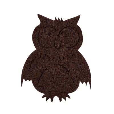 Деко фигурка кукомявка, Filz, 40 mm, тъмно кафява