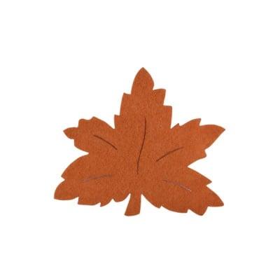 Деко фигурка лозов лист, Filz, 100 mm, светло кафяв