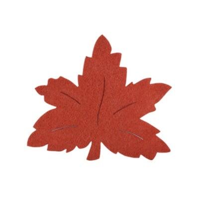 Деко фигурка лозов лист, Filz, 120 mm, кафяв