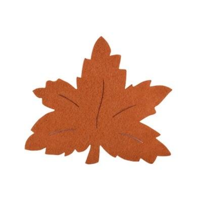 Деко фигурка лозов лист, Filz, 120 mm, светло кафяв