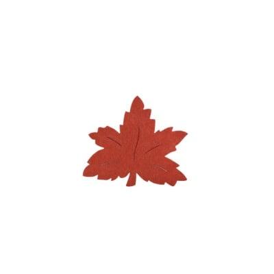 Деко фигурка лозов лист, Filz, 30 mm, кафяв