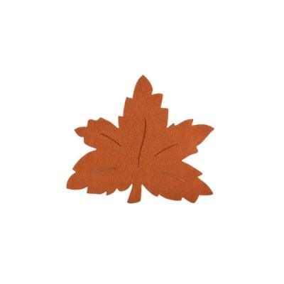 Деко фигурка лозов лист, Filz, 50 mm, светло кафяв